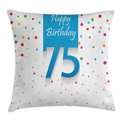 Party Confetti Rain Polka Dots Square Pillow Cover Size: 20 x 20