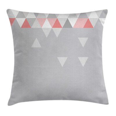 Abstract Geometric Triangles Square Pillow Cover Size: 16 x 16