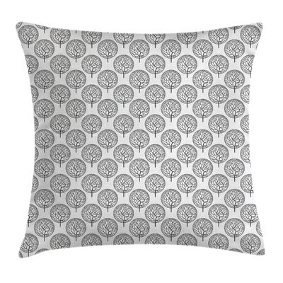 Garden Leaves Circles Artful Pillow Cover Size: 16 x 16