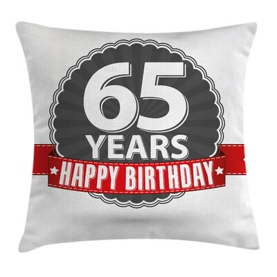 Retro Classical Icon Sixty Five Square Pillow Cover Size: 16 x 16