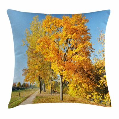 Fall Decor Maple Trees Country Square Pillow Cover Size: 16 x 16