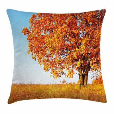 Fall Decor Lonely Ancient Oak Square Pillow Cover Size: 18 x 18