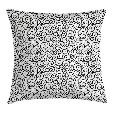 Shabby Elegance Curvy Spiral Branch Pillow Cover Size: 16 x 16
