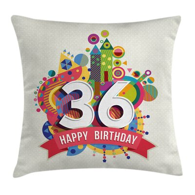 Birthday Party Theme Square Pillow Cover Size: 16 x 16