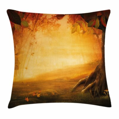 Fall Decor Mysterious Valley Square Pillow Cover Size: 16 x 16
