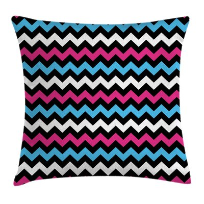 Chevron Zigzag Twisty Pillow Cover Size: 24 x 24