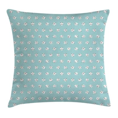 Inner Polka Dots Pillow Cover Size: 20 x 20
