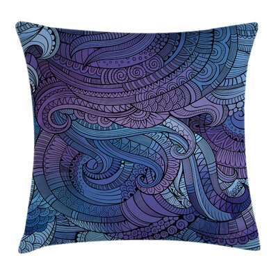 Abstract Ocean Inspired Paisley Pillow Cover Size: 24 x 24