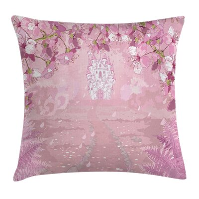 Fairy Medieval Castle Surreal Pillow Cover Size: 24 x 24