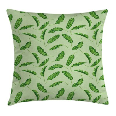 Jungle Oceanic Climate Palms Pillow Cover Size: 18 x 18