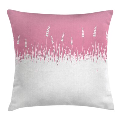 Bushes and Wheat Field Pillow Cover Size: 24 x 24