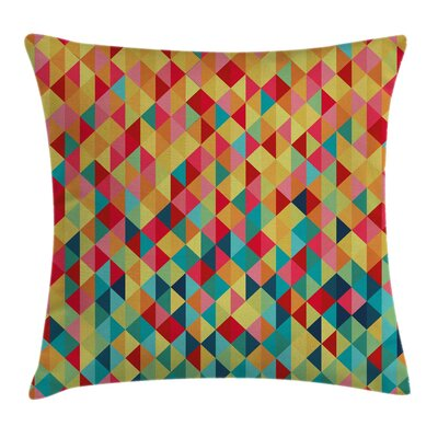 Tribal Triangles Fractal Aztec Pillow Cover Size: 18 x 18