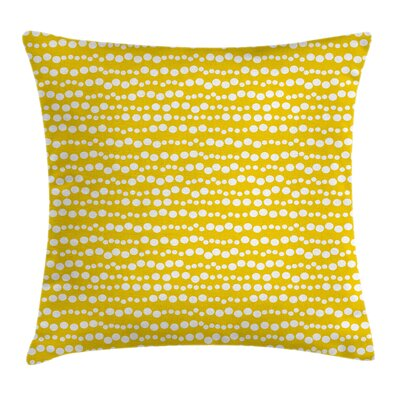 Doodle Circles Pillow Cover Size: 24 x 24