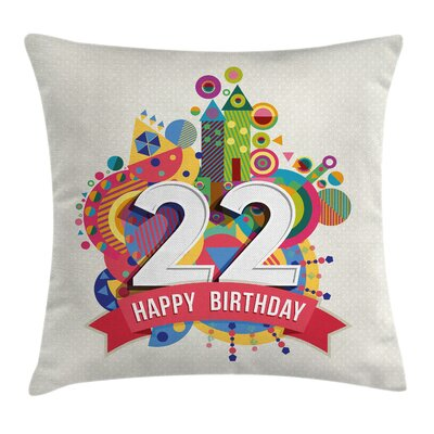 Urban Celebration Funky City Square Pillow Cover Size: 16 x 16