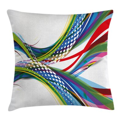 Abstract Wave Ombre Pillow Cover Size: 16