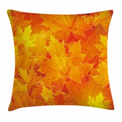 Fall Decor Maple Botany Foliage Square Pillow Cover Size: 16 x 16
