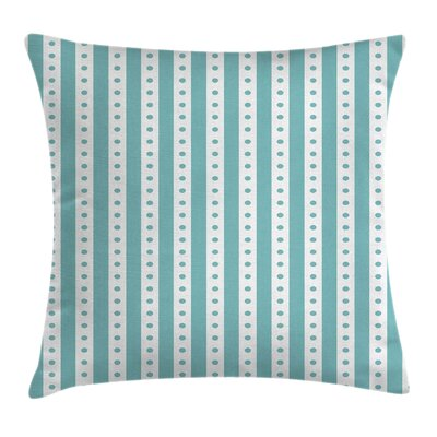 Vintage Retro Dots and Stripes Square Pillow Cover Size: 16 x 16