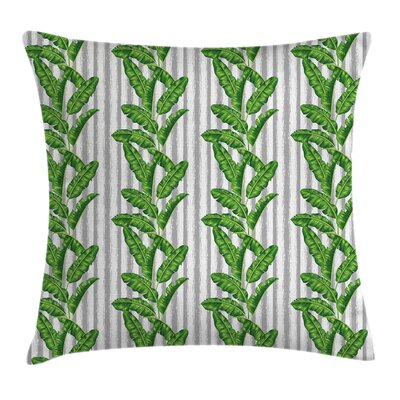 Banana Leaf Exotic Summer Plant Pillow Cover Size: 16 x 16