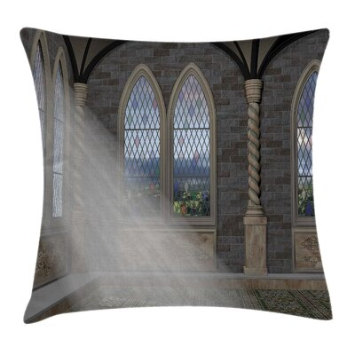 Fantasy Crepuscular Rays Palace Pillow Cover Size: 16 x 16