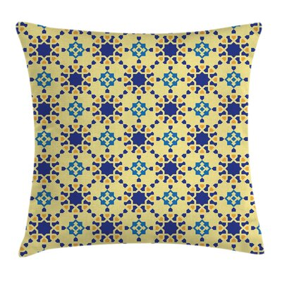Antique Moroccan Motif Folk Square Pillow Cover Size: 20 x 20