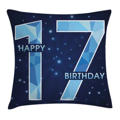Party Space Stars Stage Theme Square Pillow Cover Size: 20 x 20