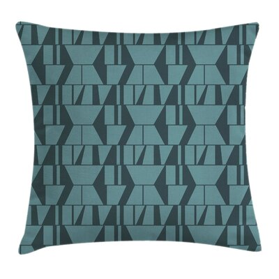 Modern Squares Triangles Square Pillow Cover Size: 18 x 18