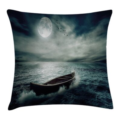 Fishing Decor a Boat Pillow Cover Size: 18 x 18