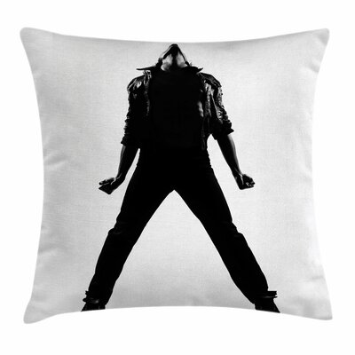 Michael Jackson Funk R&B Dance Square Pillow Cover Size: 16 x 16