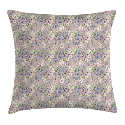 Spring Farm Flower Lilacs Bloom Pillow Cover Size: 16 x 16