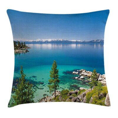 Tranquil Tahoe Shoreline Pillow Cover Size: 18 x 18