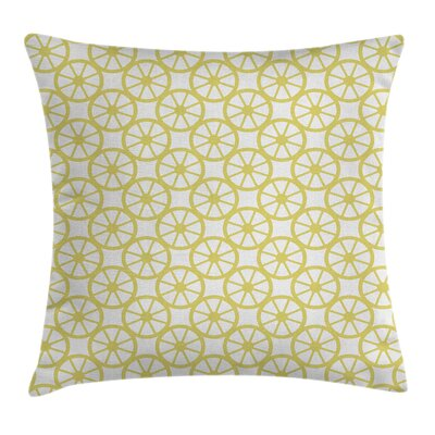 Golden Bike Wheel Lemon Peel Pillow Cover Size: 16