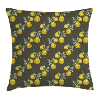 Nature Lemon Branches Growth Pillow Cover Size: 16 x 16