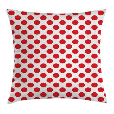 Vintage Pop Art Retro Dots Square Pillow Cover Size: 24 x 24