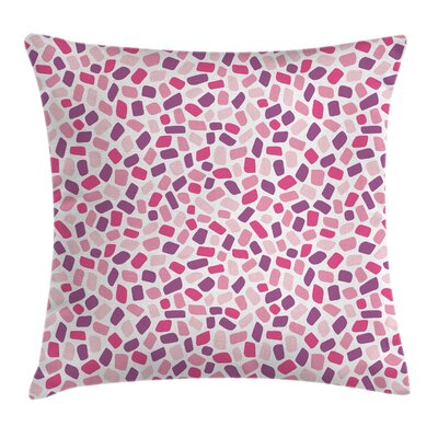 Abstract Colored Polygon Mosaic Pillow Cover Size: 16 x 16