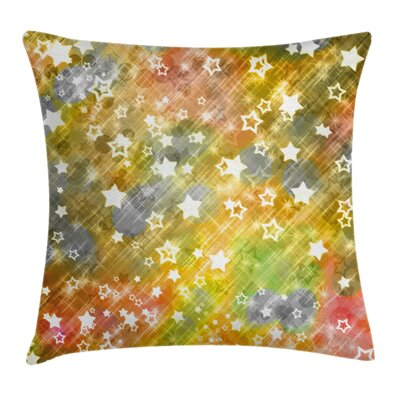 Christmas Xmas Grunge Stars Pillow Cover Size: 20 x 20