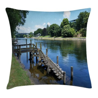 Outdoor Waikato River Hamilton Pillow Cover Size: 16 x 16