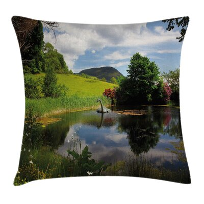 Country Lake by Meadow Rural Pillow Cover Size: 18 x 18