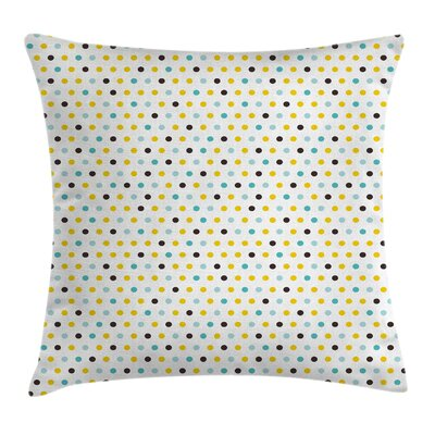 Kitchen Polka Dots Rounds Retro Pillow Cover Size: 16 x 16