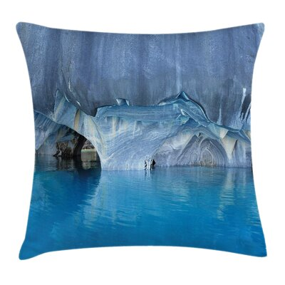 Marble Caves Lake Pillow Cover Size: 18 x 18