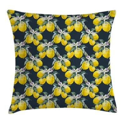Tree Blooms Botany Evergreen Pillow Cover Size: 18 x 18