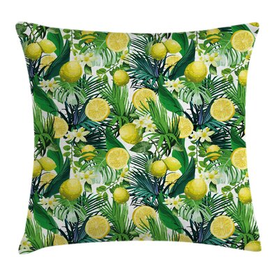 Jungle Exotic Plants Green Leaf Pillow Cover Size: 18 x 18