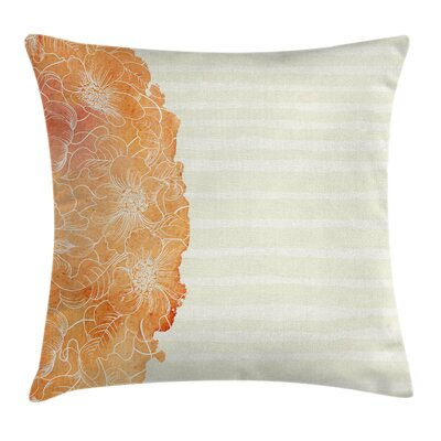 Flower Island Floral Side Frame Pillow Cover Size: 16 x 16