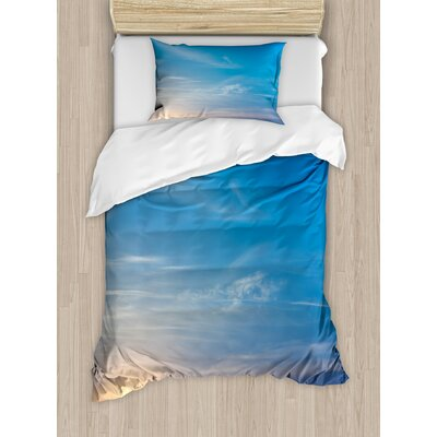 Sunrise Blurry Sky Horizon in the Middle of Nowhere Serene View Duvet Set nev_34764_twin
