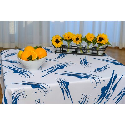 Inspiration Splatter Eco Chic Tablecloth Size: 60
