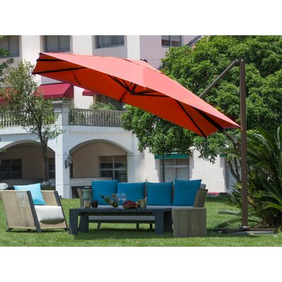 9 Square Cantilever Umbrella Color: Dark Red