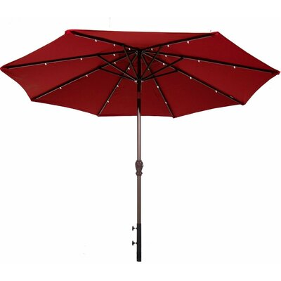 Abba Patio 9' Illuminated Umbrella APSAP9388DR