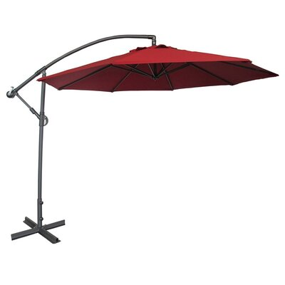 10 Cantilever Umbrella Color: Dark Red