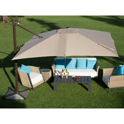 9 Square Cantilever Umbrella Color: Tan
