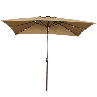 Abba Patio 7' x 9' Rectangular Market Umbrella APSAP97388BW