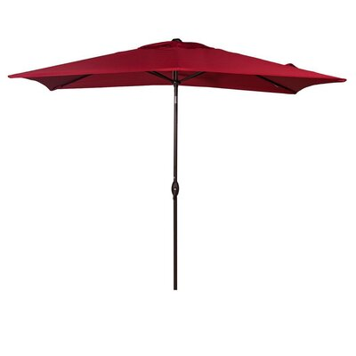 10 Rectangular Market Umbrella Fabric: Red